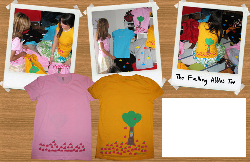 The Falling Abbles Tee :  tshirts colorful apples tee